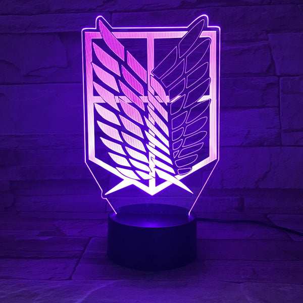 Wings of Freedom LED 3D Lamp with 7 Colors