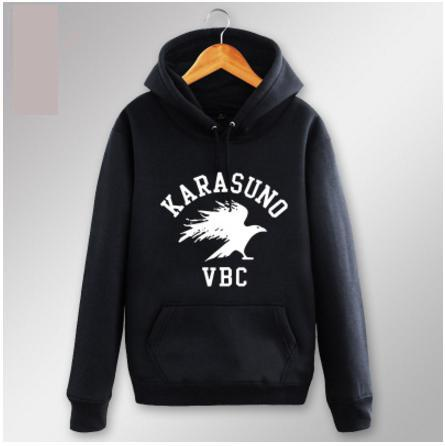 Karasuno Volleyball Club Hoodie | Black and Grey