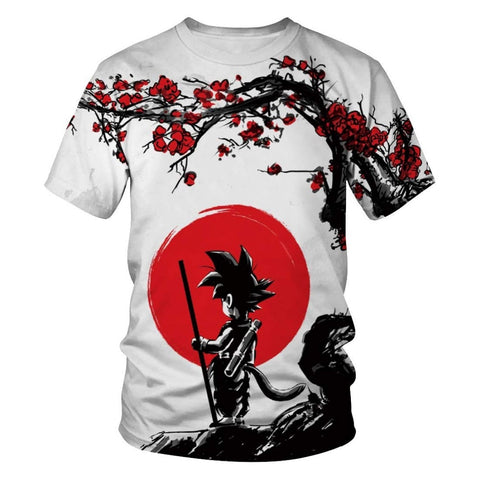 SON Full-Print T-Shirt | Red Moon Petals Design