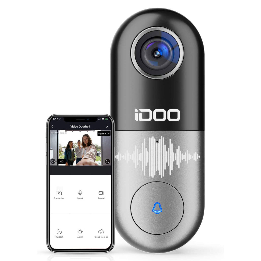 Video Doorbell WiFi,128GB 1080p HD Doorbell Camera Chime,2-Way Audio,Motion Detector,Night Vision,Home Security,Smart APP iOS/Android