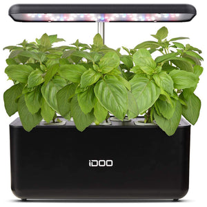 iDOO Hydroponics Growing System, Indoor Garden Starter Kit with LED Grow Light (7 Pods)