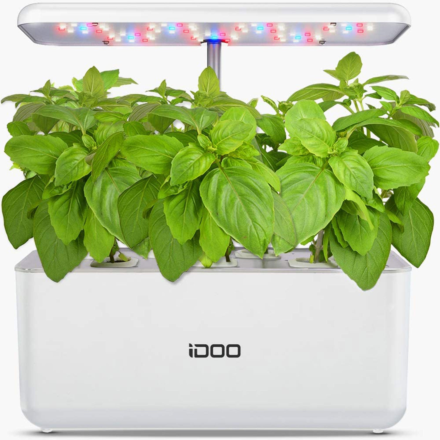 Indoor Herb Garden Starter Kit with LED Grow Light Smart Garden Planter for Home Kitchen Red iDOO Hydroponics Growing System Automatic Timer Germination Kit