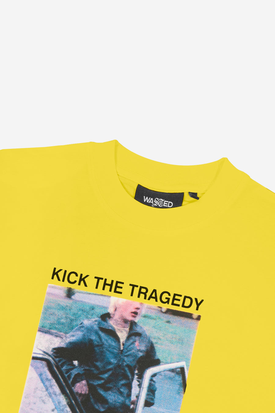 T-shirt Kick The Tragedy Jaune