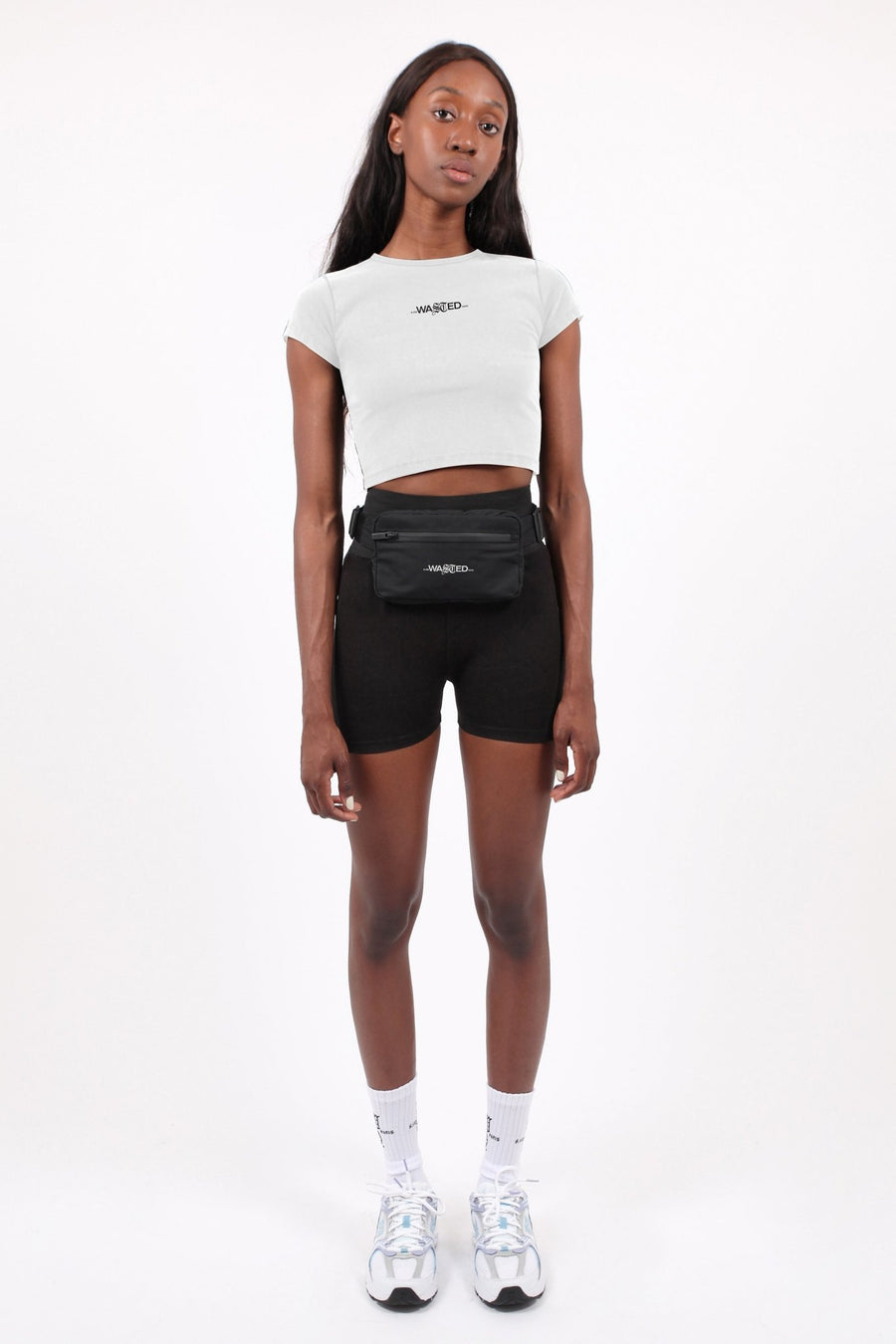 Bella Crop Top Signature Blanc - WASTED PARIS