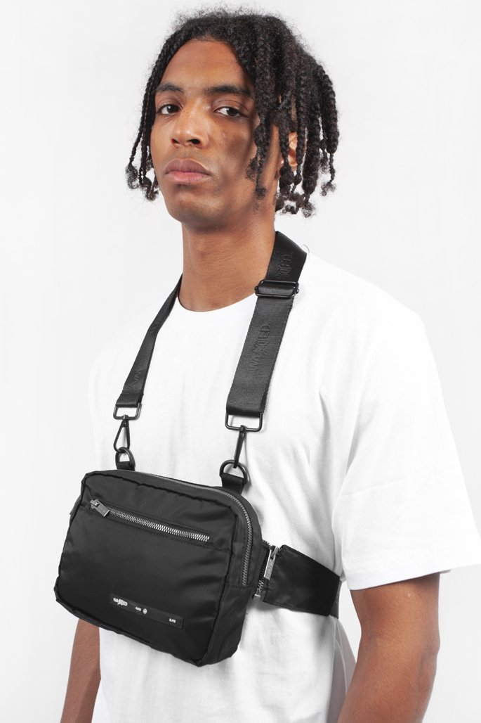 Chest Bag Nylon Noir - WASTED PARIS