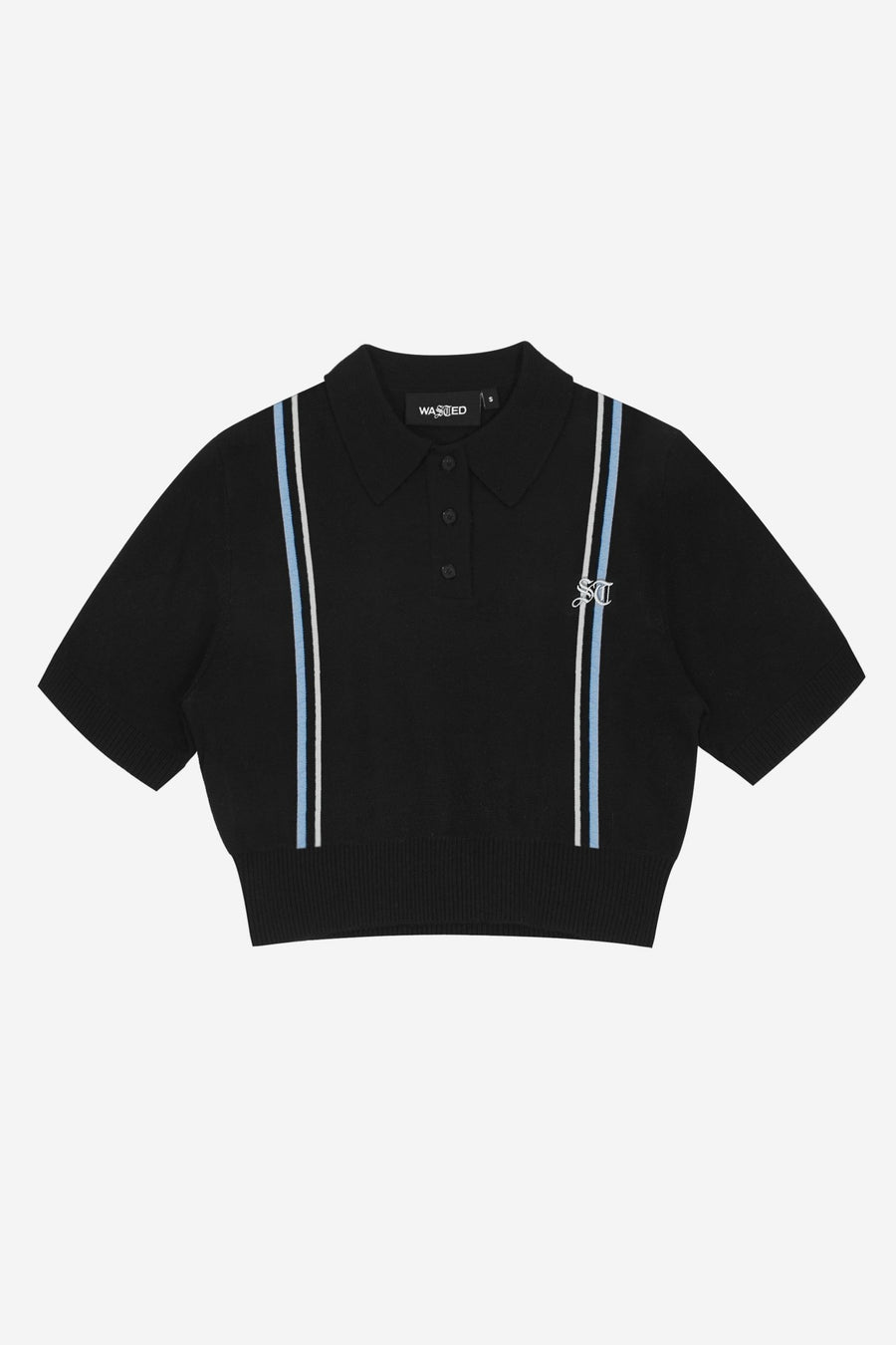 Crop Polo Strike Noir - WASTED PARIS