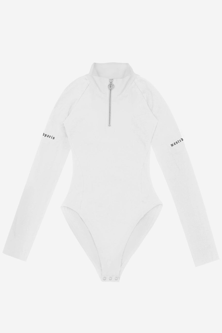Half Zip Body Blanc - WASTED PARIS