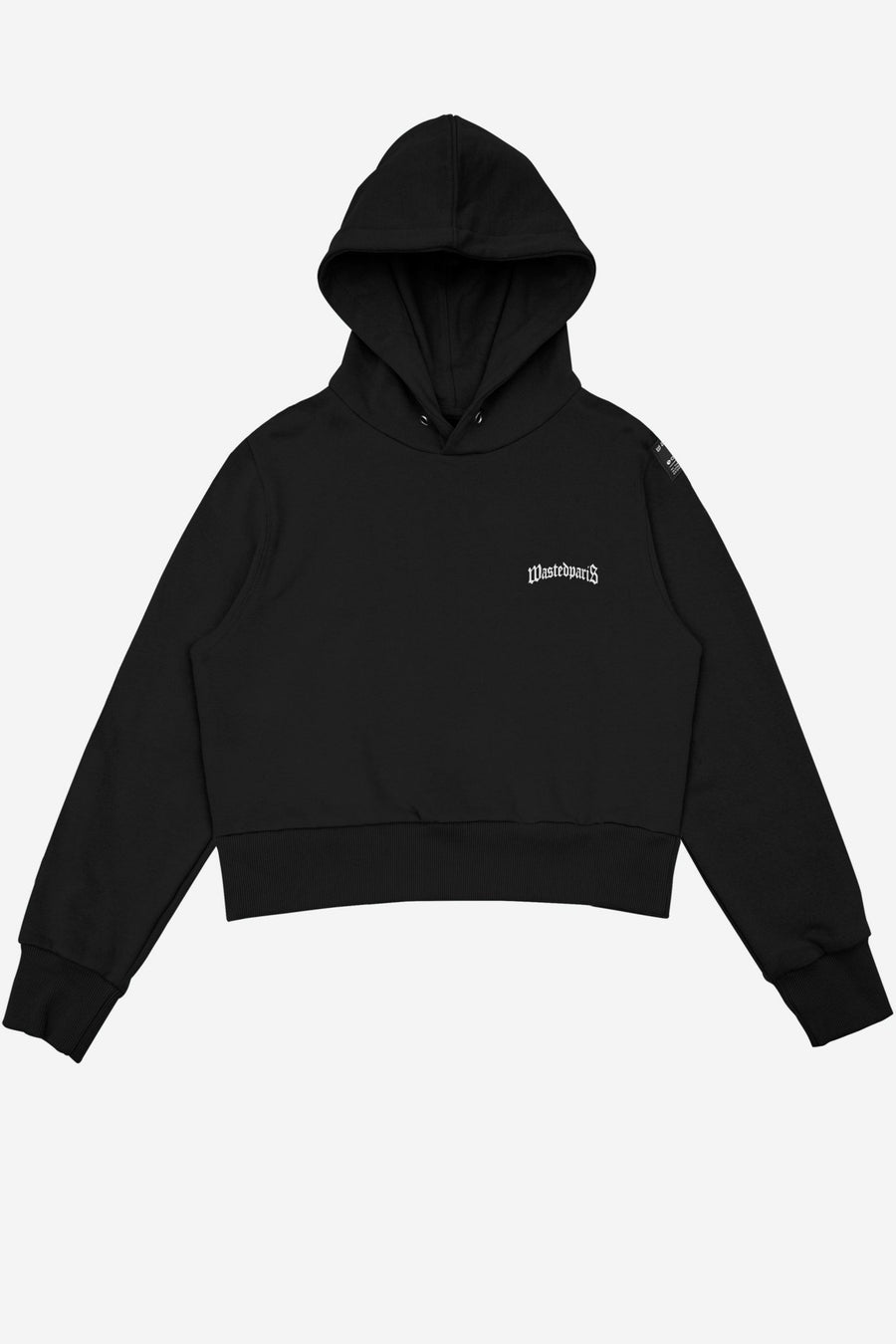 Hoodie Crop Essential Noir - WASTED PARIS