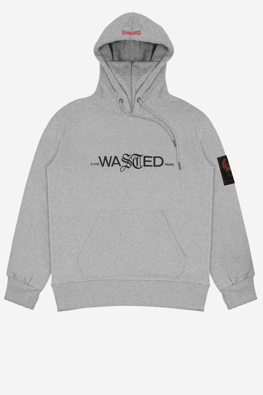 Hoodie Essentiel Gris Chiné SS21 - WASTED PARIS