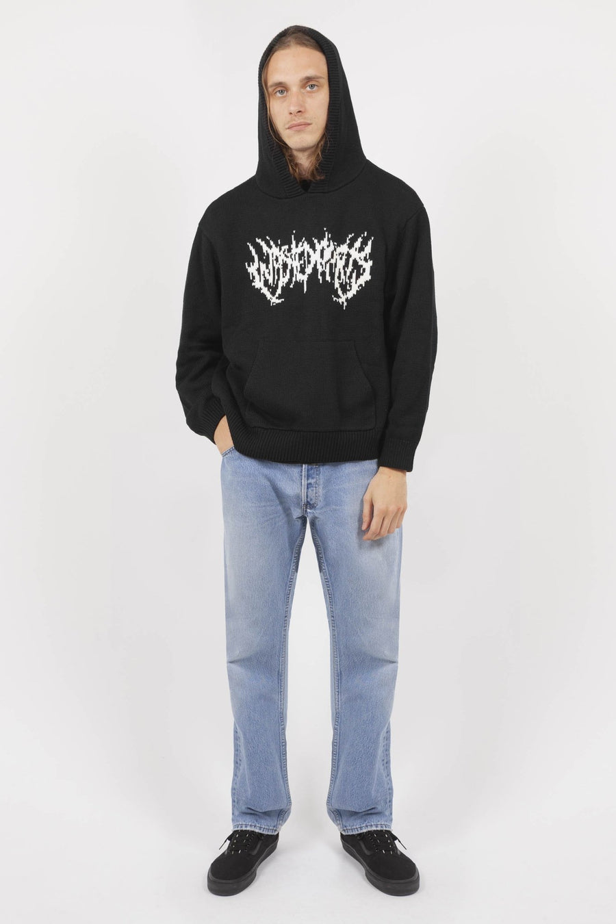 Hoodie Maille Nineties Noir - WASTED PARIS