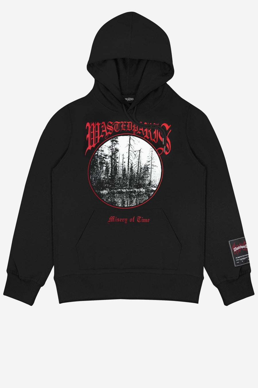 Hoodie Misery Noir - WASTED PARIS