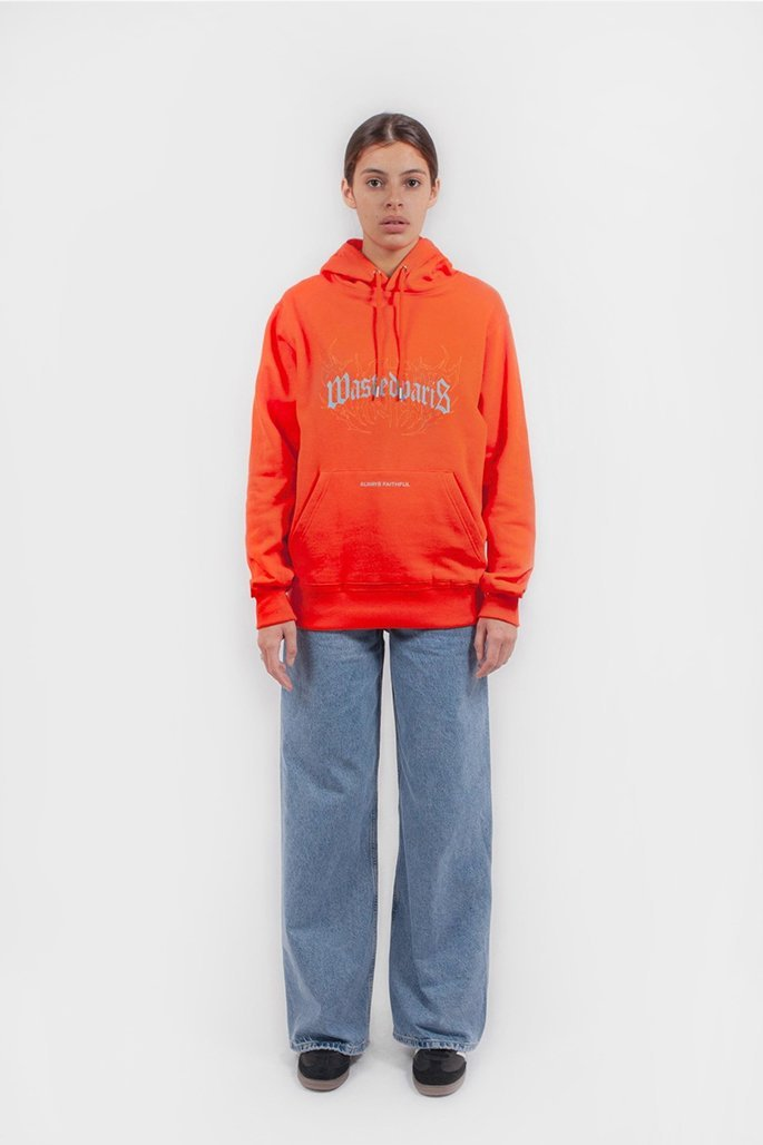 Hoodie Shadow Bridge Orange - WASTED PARIS