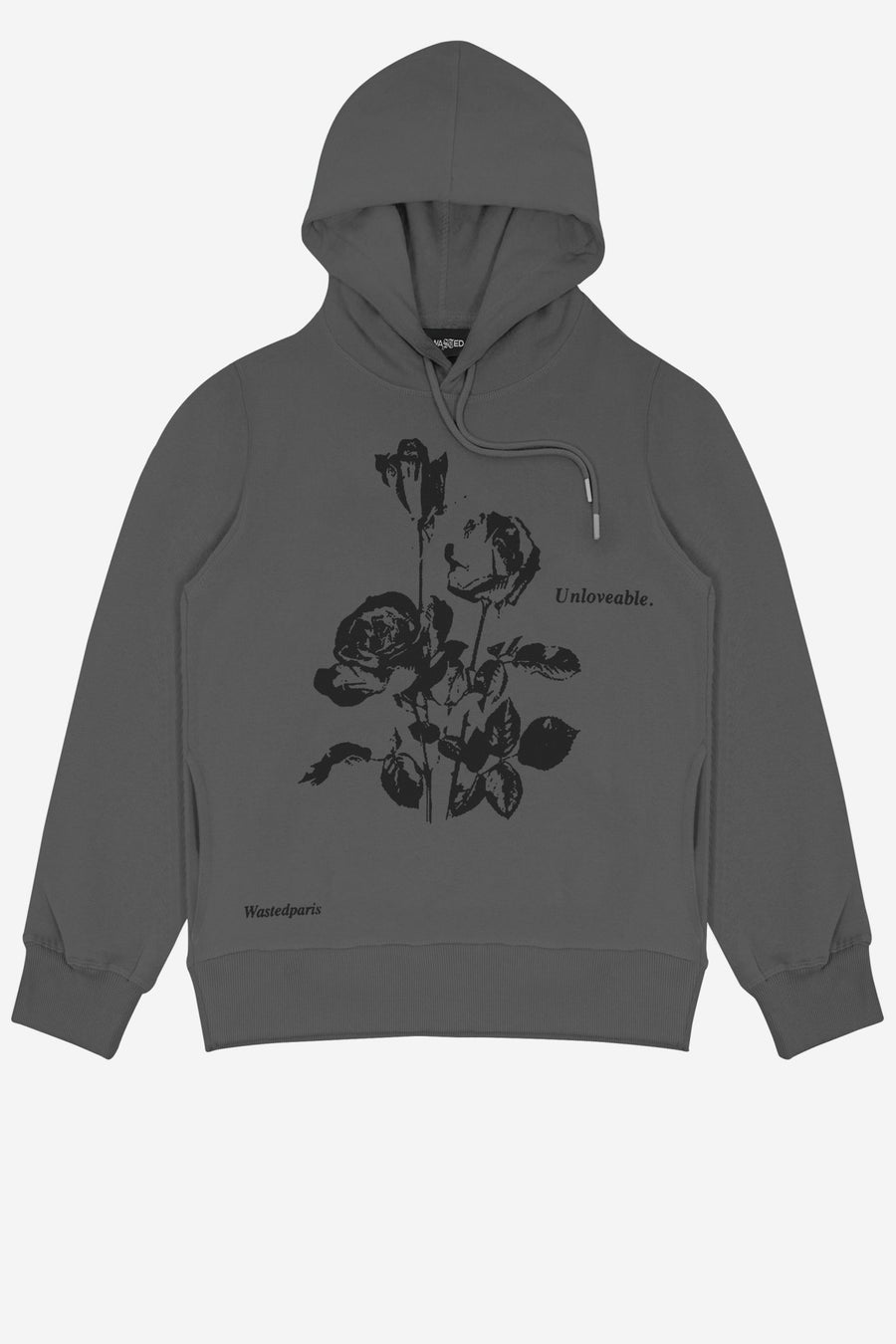 Hoodie Unloveable Gris - WASTED PARIS