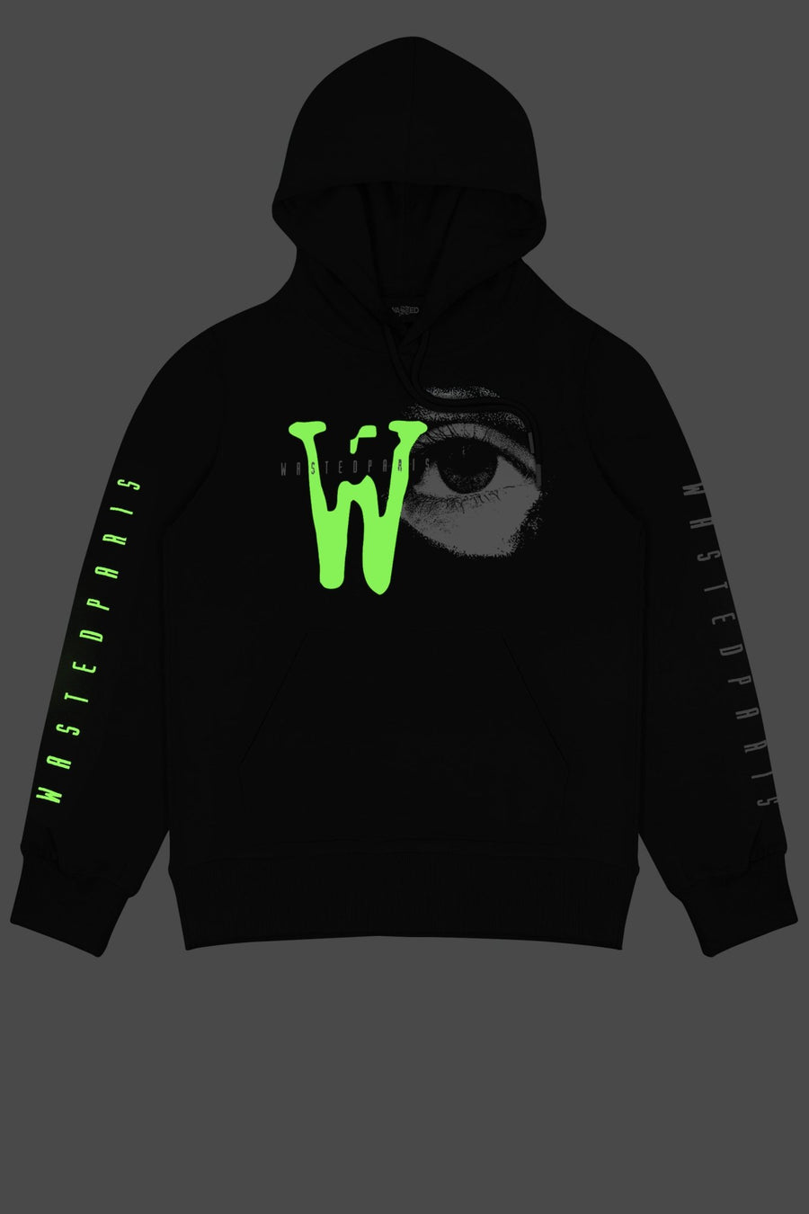 Hoodie Zone 51 Noir - WASTED PARIS