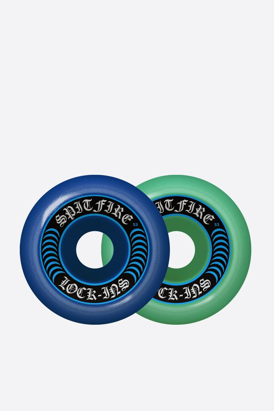 Spitfire Wheels 53mm F4 Lock Ins Mash Blue TL - WASTED PARIS