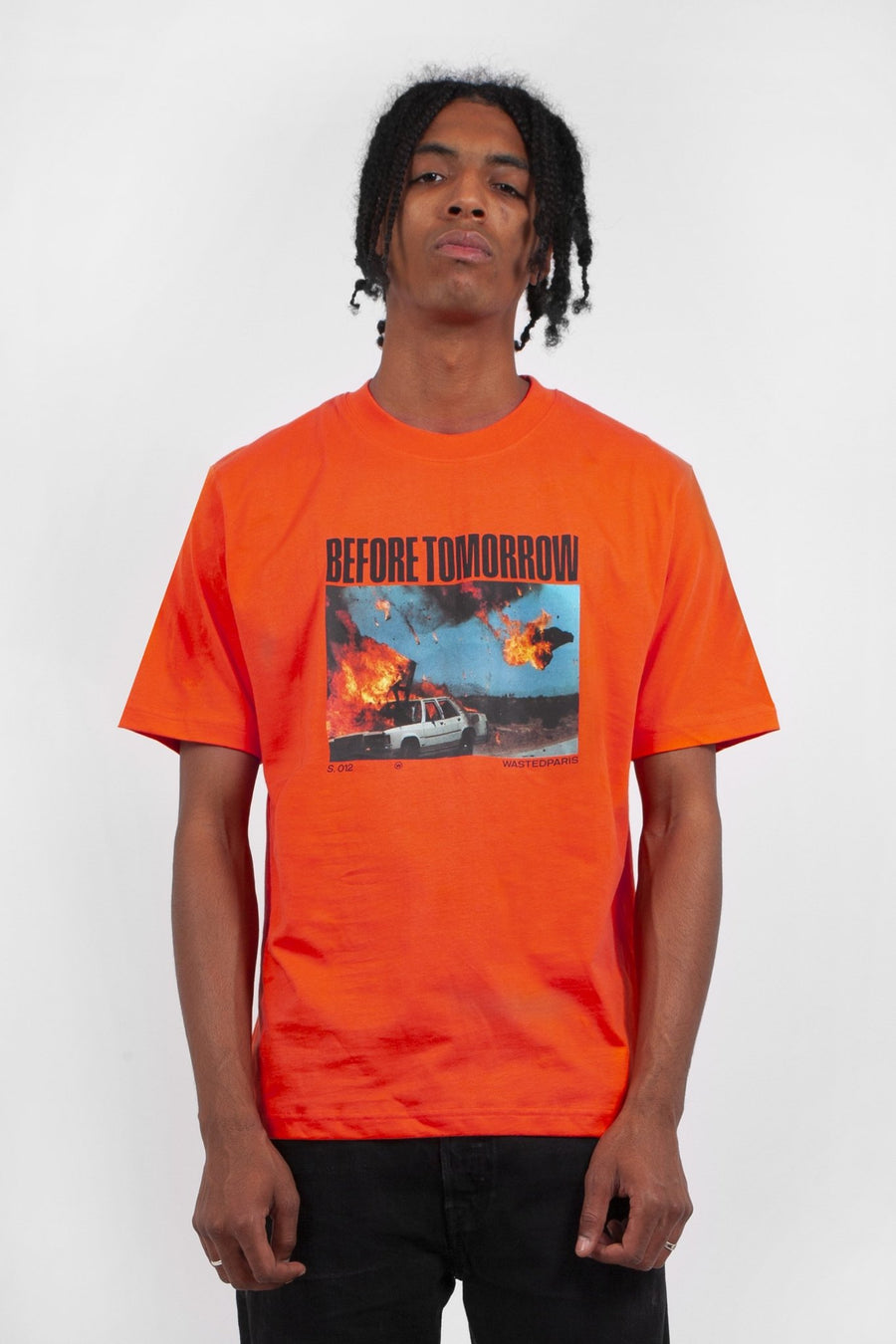 T-shirt Before Tomorrow Orange - WASTED PARIS
