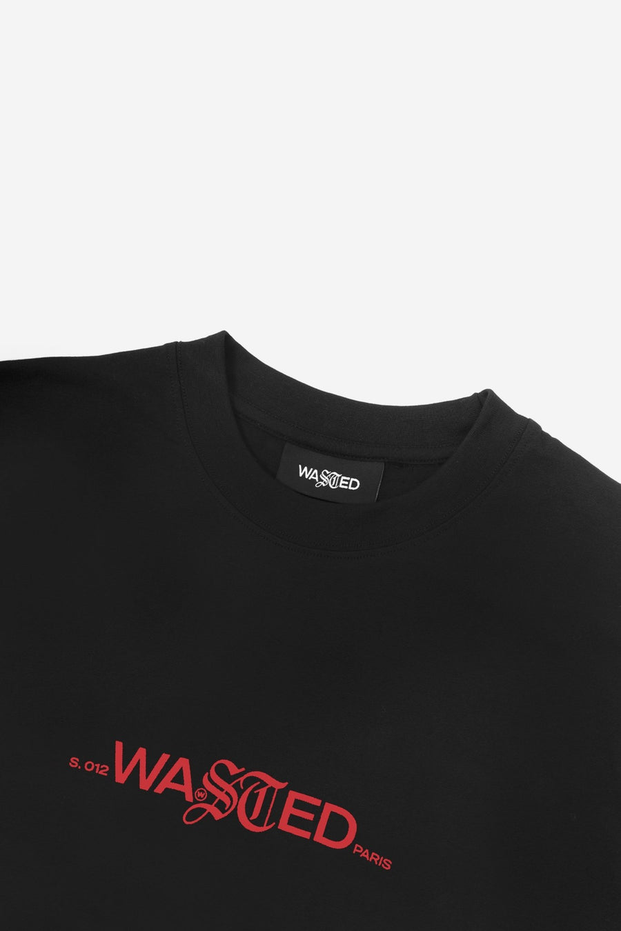 T-shirt Caution Noir - WASTED PARIS