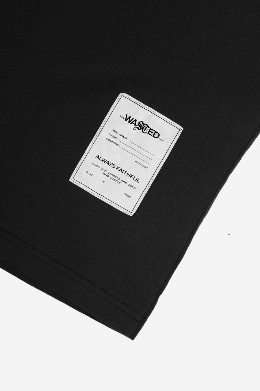 T-shirt Essentiel Noir - WASTED PARIS