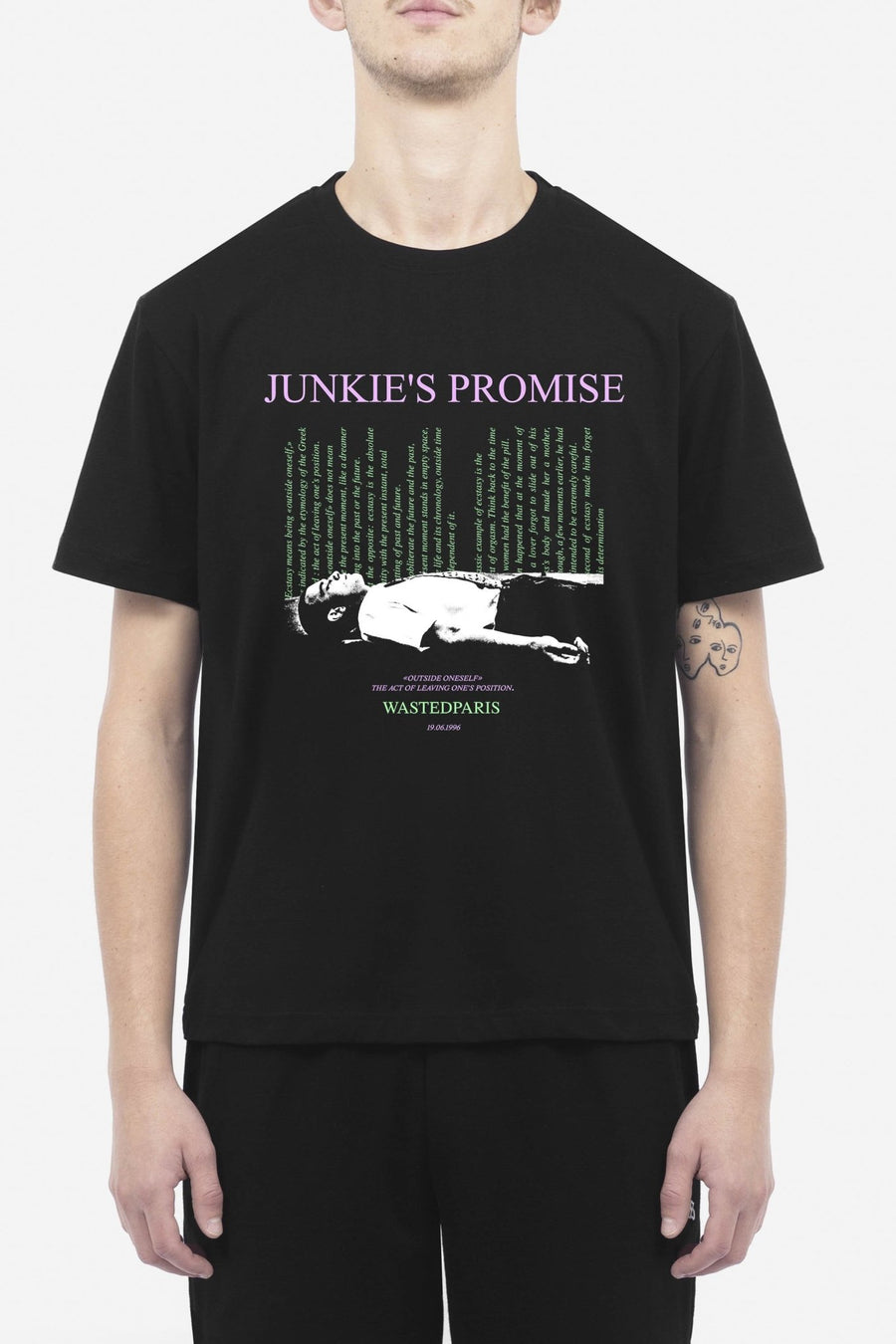 T-Shirt Junkie's Promise Noir - WASTED PARIS
