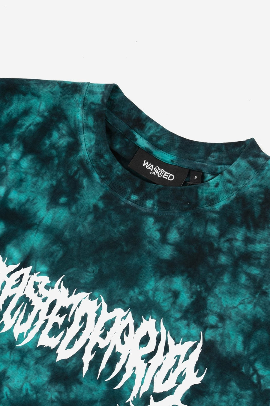 T-shirt Marble Die Nebula Noir/Vert - WASTED PARIS