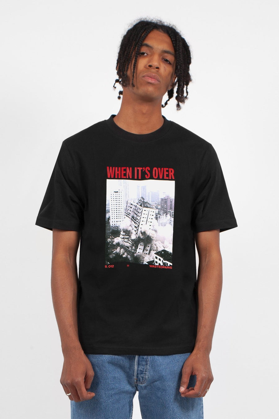 T-shirt Over Noir - WASTED PARIS