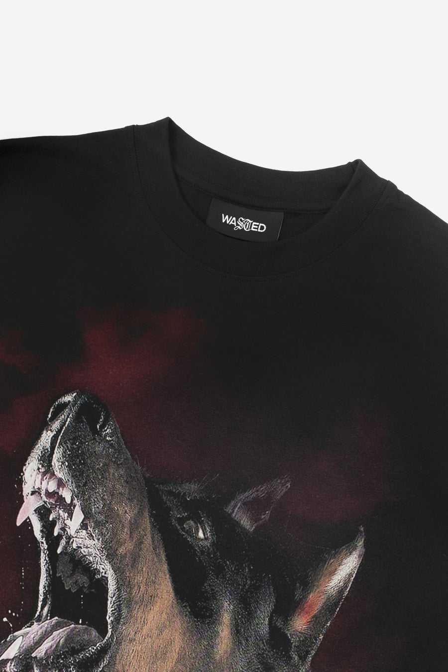 T-shirt Rage Noir - WASTED PARIS