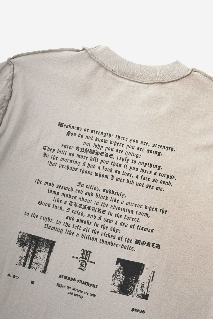 T-shirt Shadow Faded Sand - WASTED PARIS