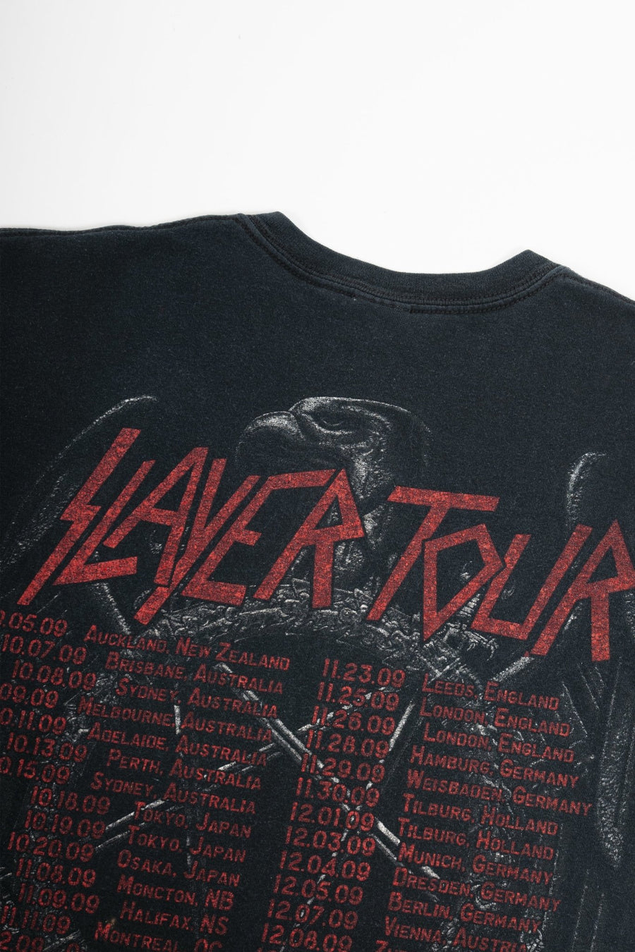 T-shirt Slayer Tour 2009 - WASTED PARIS