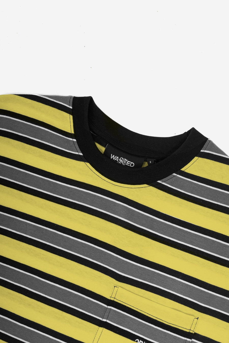 T-shirt Stripe Bleu Jaune/Gris - WASTED PARIS