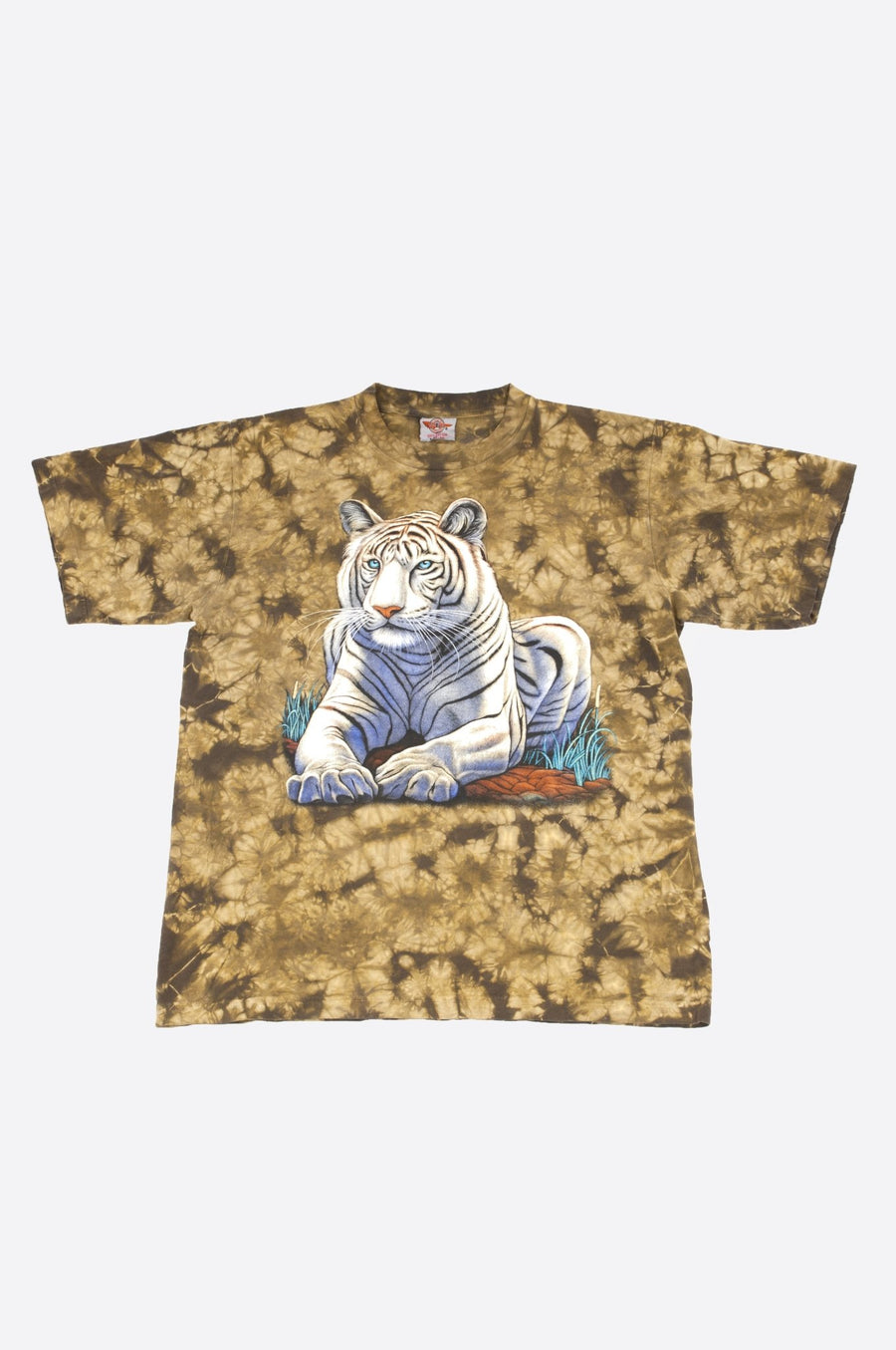 T-shirt Tie & Dye Withe Tiger - WASTED PARIS