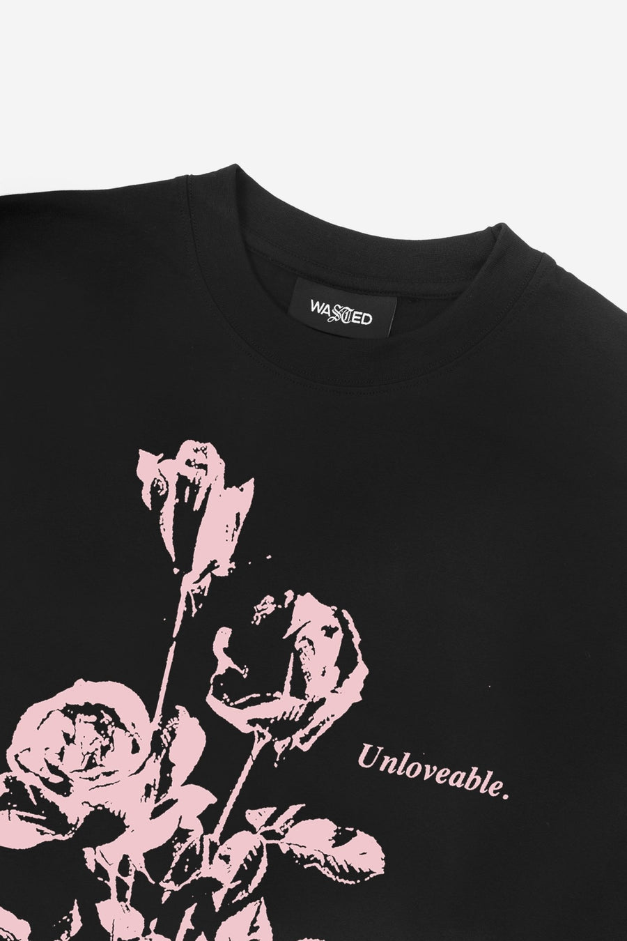 T-shirt Unloveable Noir - WASTED PARIS