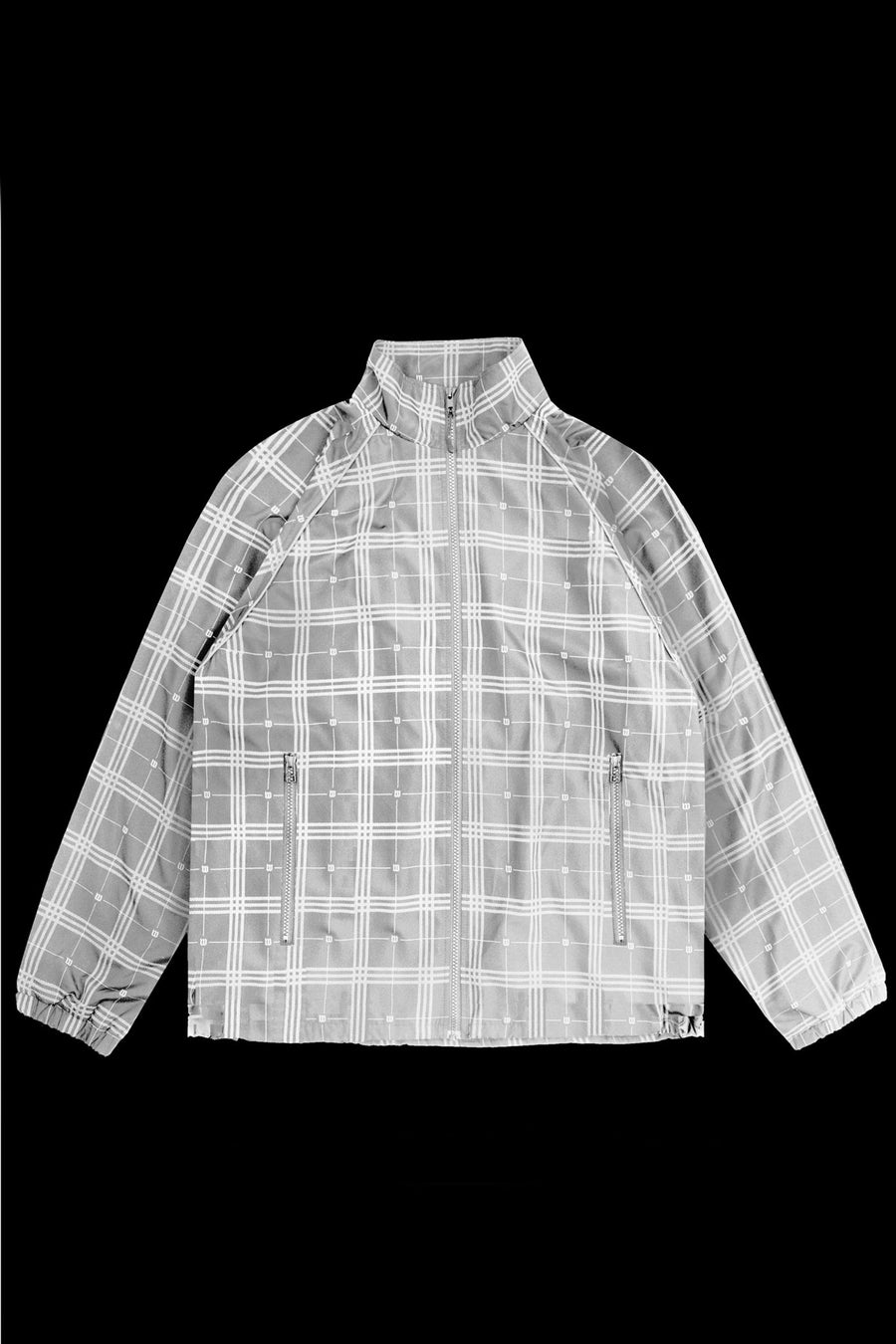 Veste Ghost Tartan Réflectif Blanc - WASTED PARIS