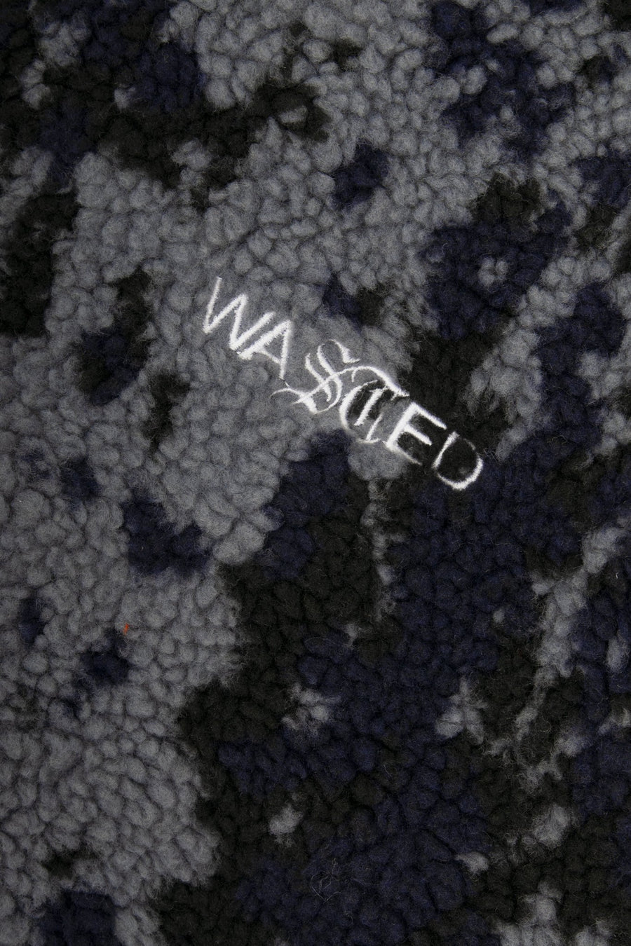 Veste Sherpa Abstract Camo Noir - WASTED PARIS