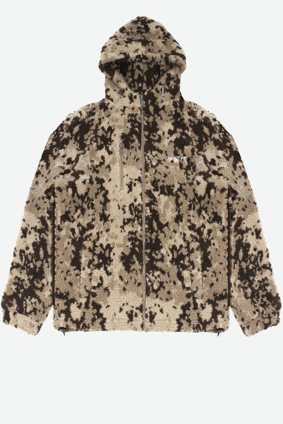 Veste Sherpa Abstract Camo Sable - WASTED PARIS