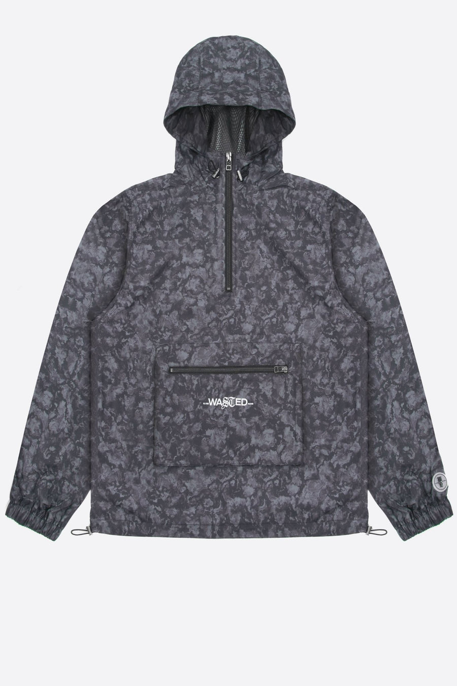 Windbreaker Dark Water Noir - WASTED PARIS