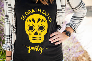 Til Death to us Party Bachelorette, Wedding & Bridal Party Tank Top or V-neck pack