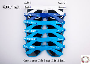 Bride's Mate Nautical Themed Bachelorette & Bridal Party Wedding Sunglasses