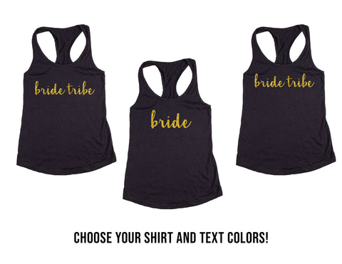 Bride Tribe Wedding, Bachelorette & Bridal Party Tank Tops or V-Necks Pack