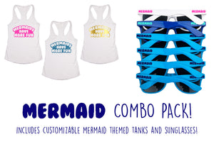 Ultimate Mermaid Themed Bachelorette Party Combo Pack- Includes Shirts & Sunglasses