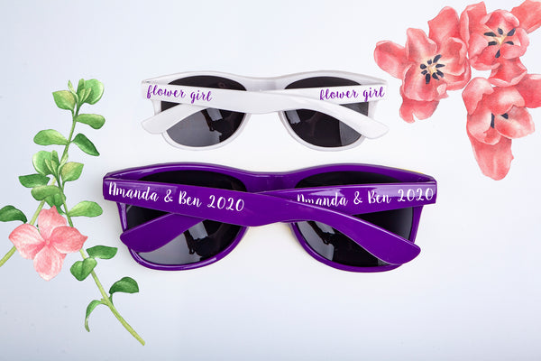 Custom Flower Girl, Ring Bearer, Bridal Party & Wedding Favor Sunglasses