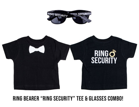 Wedding Ring Bearer, Ring Security Sunglasses & T-Shirt Combination Pack