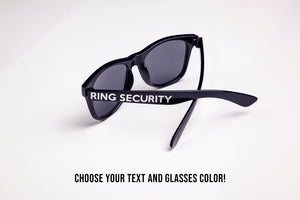 Ring Security Custom Kids or Adult Sized Wedding Ring Bearer Sunglasses