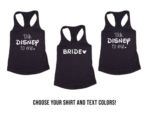 Cartoon Themed Wedding, Bachelorette & Bridal Party Tank Tops or V-Necks Pack