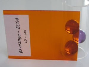 Orange GS Platten Acrylglas