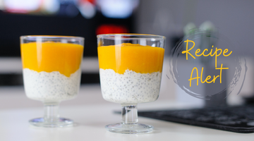 Mango Chia Pudding with STRIVE Vanilla shake