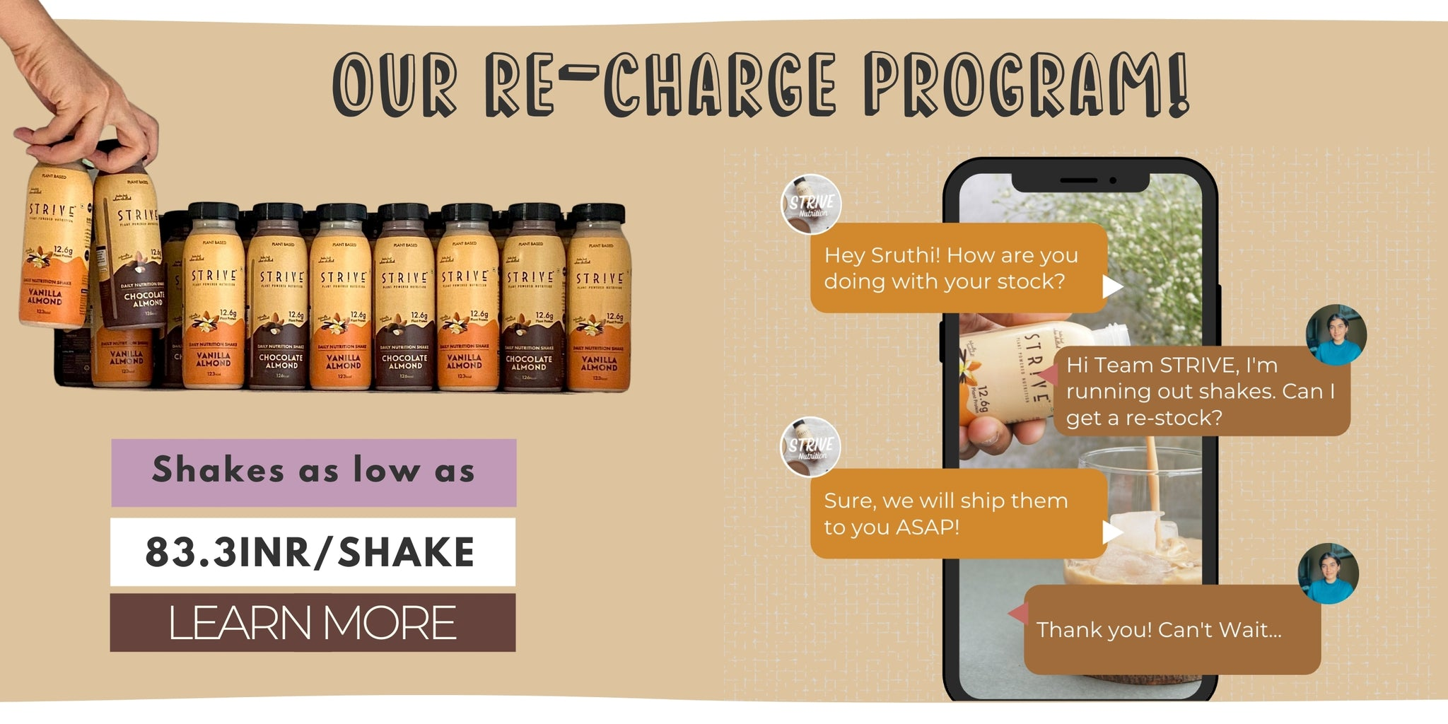 Subscription Daily protein shake