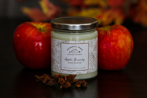 Apple Brandy - Maple | Apple | Bourbon - 8 oz. Soy Wax Candle