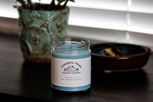 Load image into Gallery viewer, Coastal Cliff - Ocean | Honeydew Melon | Violet - 8 oz. Soy Wax Candle