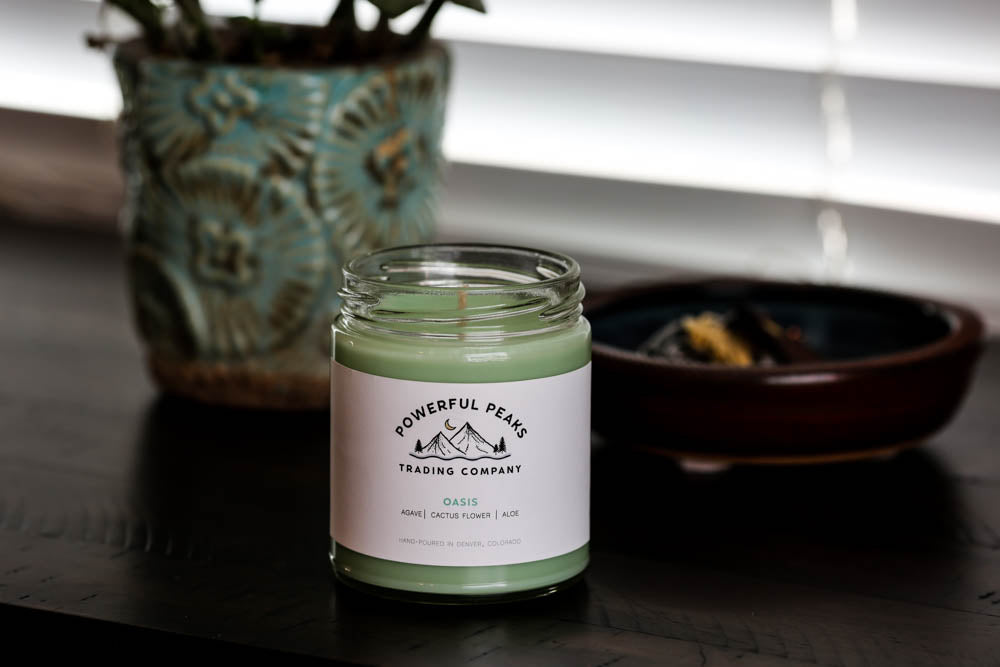 Oasis - Agave | Cactus Flower | Aloe - 8 oz. Soy Wax Candle