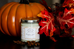 Pumpkin Spice - Pumpkin | Cinnamon | Nutmeg - 8 oz. Soy Wax Candle